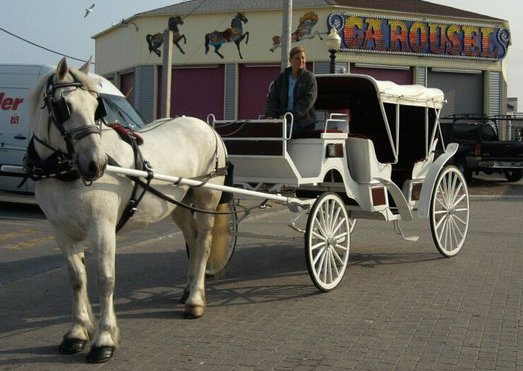 Horse Carriage at Old Orchard Beach Maine
