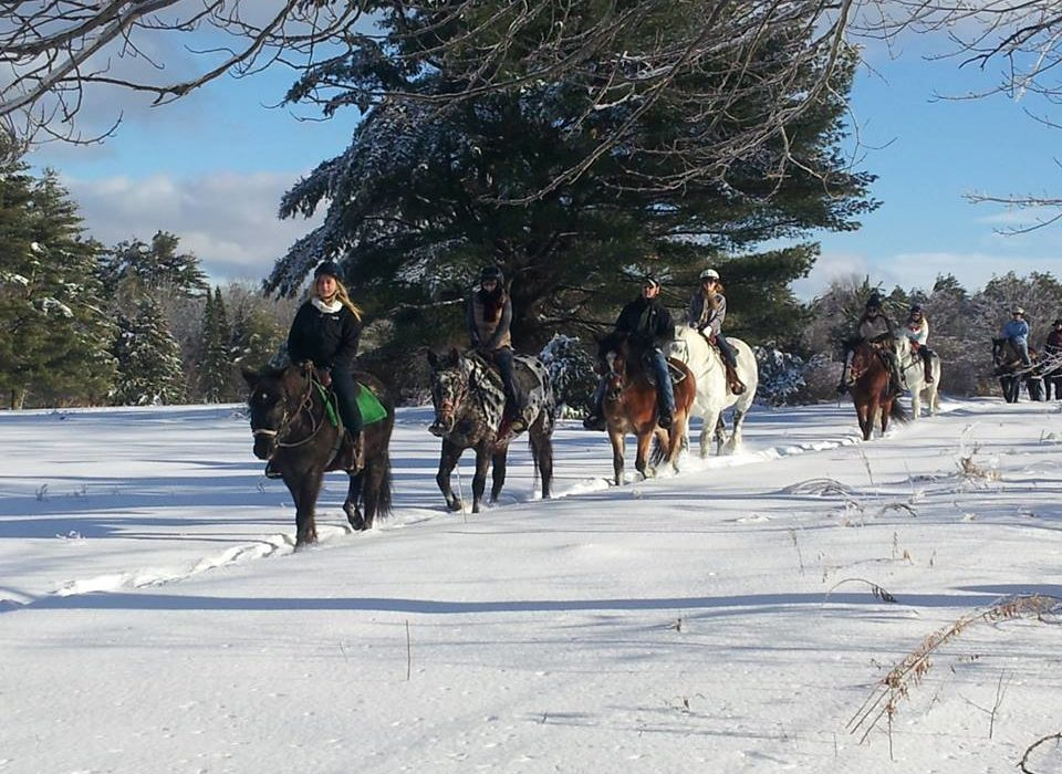 Winter Wonderland Ride at Carousel Horse Farm in Casco Maine